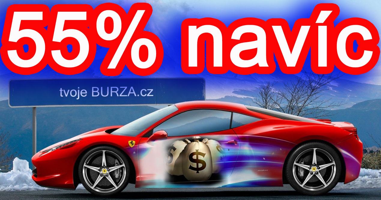 55% navíc